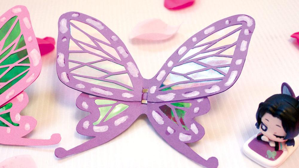 鬼滅の刃しのぶの蝶の髪飾りを手作り完成品