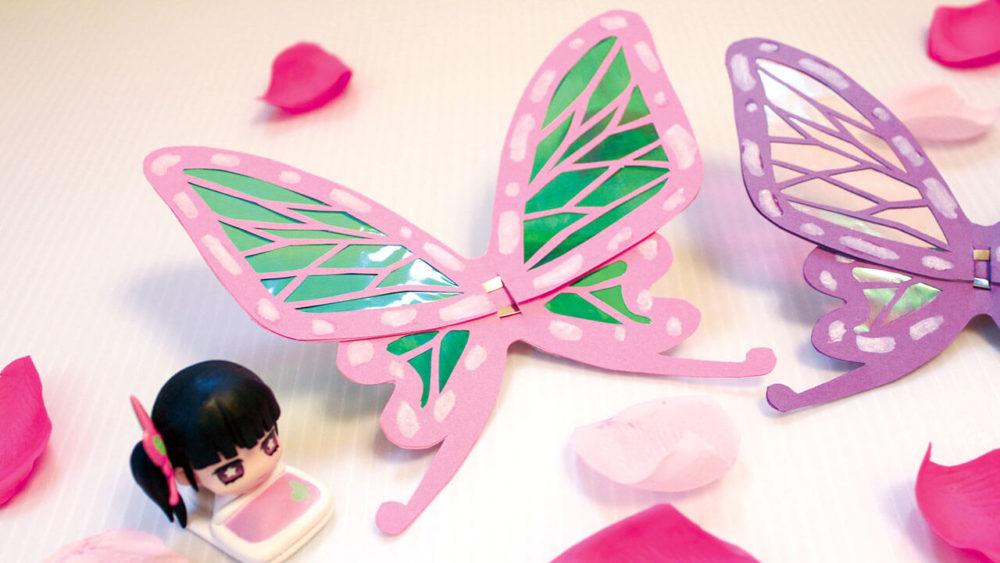 鬼滅の刃カナヲの蝶の髪飾りを手作り完成品