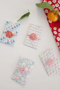 水引きと折り紙で作るお洒落なポチ袋