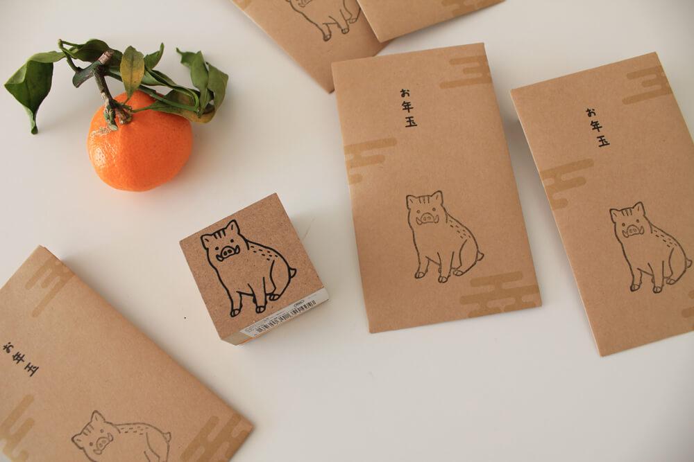 クラフト紙で作るかわいい手作りポチ袋
