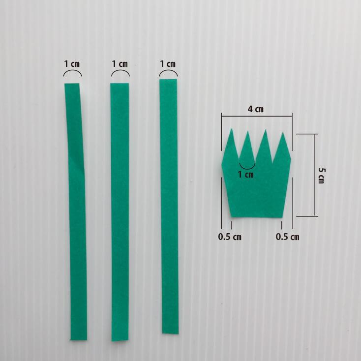 カーネーションの作り方_ガクと茎