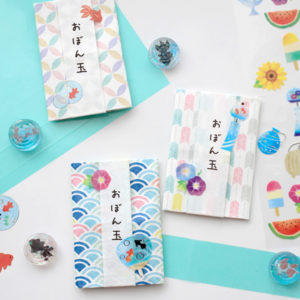 折り紙とシールで作るお洒落なポチ袋